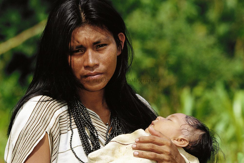 Machiguenga Indian with Baby<br />