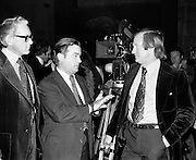 In 1975 Ardmore Studios was renamed The  National Film Studios of Ireland, with Seamus Smith as managing director and film director John Boorman as chairman. Pictured at the opening are (l-r): Seamus Smith, Justin Keating, Minister for Industry and Commerce and John Boorman. The studios hosted several major films including 'The Purple Taxi' and The Great Train Robbery'.<br />
