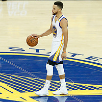 12 June 2017: Golden State Warriors guard Stephen Curry (30) brings the ball up court during the Golden State Warriors 129-120 victory over the Cleveland Cavaliers, in game 5 of the 2017 NBA Finals, at the Oracle Arena, Oakland, California, USA.