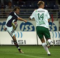 Fotball, Tippeliga,<br /> Viking Stadion 300706<br /> Viking - Ham Kam<br /> <br /> Foto: Sigbjørn Andreas Hofsmo, Digitalsport<br /> <br /> Alexander Ødegaard har akkurat sendt i vei skuddet som førte viking opp i 2-0