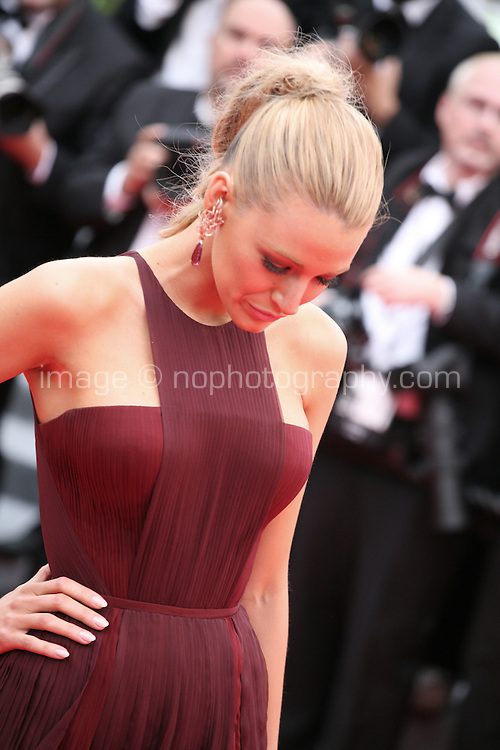 Blake Lively at the the Grace of Monaco gala screening and opening ceremony red carpet at the 67th Cannes Film Festival France. Wednesday 14th May 2014 in Cannes Film Festival, France.
