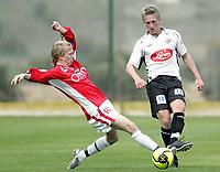 Fotball / Football<br /> La Manga - Spain<br /> 06.03.2007<br /> Bryne v Sogndal 2-1<br /> Foto: Morten Olsen, Digitalsport<br /> <br /> Per Egil Flo - Sogndal<br /> Tor-Mattis Kåven - Bryne