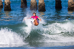Macy Callaghan (AUS) advances to the Semifinals of the 2918 Junior Women's VANS US Open of Surfing after placing second in Quarterfinal Heat 1 of Round 1 at Huntington Beach, CA, USA.