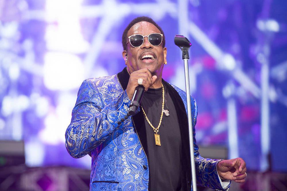 Charlie Wilson performing at Something In The Water Festival in Virginia Beach, VA on April 28, 2019.