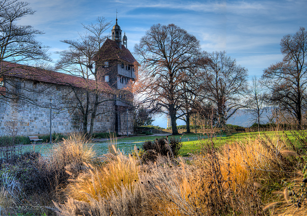 At the castle in Essingen