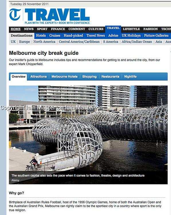 Tearsheet from The Daily Telegraph showing melbourne