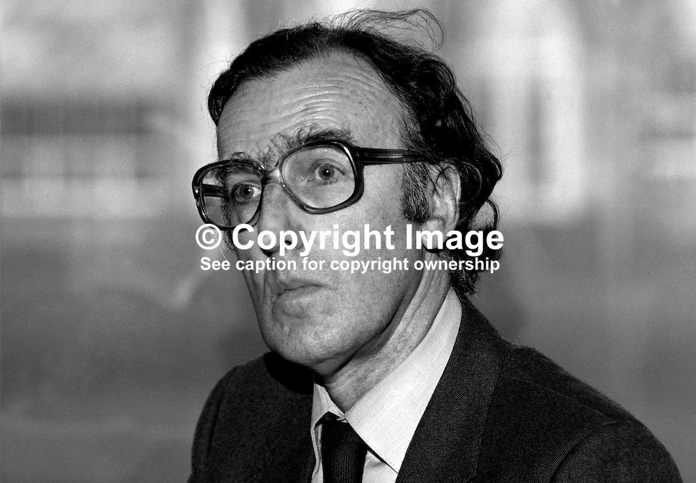 Paul Buxton, civil servant, N Ireland Office, Stormont Castle, Belfast, 19850401PB2.<br /> <br /> Copyright Image from Victor Patterson, Belfast, UK<br /> <br /> t: +44 28 9066 1296 (from Rep of Ireland 048 9066 1296)<br /> m: +44 7802 353836<br /> e: victorpattersonbelfast@gmail.com<br /> <br /> www.images4media.com<br /> <br /> Please see my full Terms and Conditions of Use at https://www.images4media.com/p/terms-conditions - it is IMPORTANT that you familiarise yourself with them.<br /> <br /> Images used online incur an additional cost. This cost should be agreed in writing in advance. Online images must be visibly watermarked i.e. © Victor Patterson or that of the named photographer within the body of the image. The original metadata must not be deleted from images used online.<br /> <br /> This image is only available for the use of the download recipient i.e. television station, newspaper, magazine, book publisher, etc, and must not be passed on to a third party. It is also downloaded on condition that each and every usage is notified within 7 days to victorpattersonbelfast@gmail.com.<br /> <br /> The right of Victor Patterson (or the named photographer) to be identified as the author is asserted in accordance with The Copyright Designs And Patents Act (1988). All moral rights are asserted.