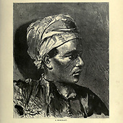 wood engraving of a Portrait of an Egyptian Merchant From the book 'Picturesque Palestine, Sinai and Egypt : social life in Egypt; a description of the country and its people' with illustrations on Steel and Wood by Wilson, Charles William, Sir, 1836-1905; Lane-Poole, Stanley, 1854-1931. Published by J.S. Virtue in London in 1884