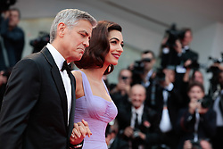 Actors Matt Damon, Julianne Moore and George Clooney with wife Amal Clooney walk the red carpet ahead of the 'Suburbicon' screening during the 74th Venice Film Festival at Sala Grande on September 2, 2017 in Venice, Italy. 02 Sep 2017 Pictured: George Clooney and Amal Clooney. Photo credit: Fernanda Bareggi / MEGA TheMegaAgency.com +1 888 505 6342