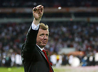 Photo: Chris Ratcliffe.<br /> Middlesbrough v Sevilla. UEFA Cup Final. 10/05/2006.<br /> Boro boss Steve McLaren says farewell to the Boro fans.