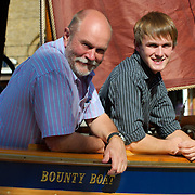 London  Mike and Peter Perham  launch the Bounty Boat Expedition 2010 in aid for the Motor Neurnome Disease Research. It is an expedition in an open boat for 4000 miles  to follow in the footstep of William Bligh when cast adrift from the Bounty, following the Mutiny on April 28th 1798..Mike Perham is youngest ever round-the-world sailor..Standard Licence feee's apply  to all image usage.Marco Secchi - Xianpix tel +44 (0) 7717 298571.http://www.marcosecchi.com