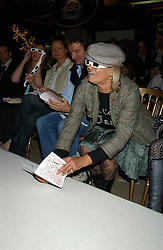 Rock Roll figure ANITA PALLENBURG  at an exclusive evening featuring the greatest talents in fashion today in aid of the African children who have been affected bt the AIDS epidemic held at the Chelsea Gardener, Sydney Street, London on 20th September 2004<br /><br />NON EXCLUSIVE - WORLD RIGHTS