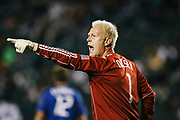 during the second half of an MLS soccer match Saturday, Aug. 28, 2010, in Carson, Calif. The Kansas City Wizards won 2-0. (AP Photo/Bret Hartman)