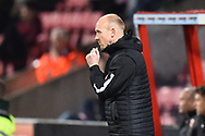Yeovil Town manager Darren Way during the EFL Sky Bet League 2 match between Swindon Town and Yeovil Town at the County Ground, Swindon, England on 10 April 2018. Picture by Graham Hunt.