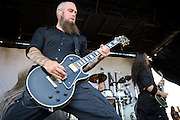 In Flames performing on the Mayhem Festival at Verizon Wireless Amphitheater in St. Louis, Missouri on July 19, 2011. © Todd Owyoung.