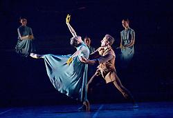 English National Ballet <br /> Triple Bill<br /> at Sadler's Wells, London, Great Britain <br /> rehearsal <br /> 7th September 2015 <br /> <br /> No Man's Land <br /> <br /> by Liam Scarlett <br /> <br /> <br /> <br /> Erina Takahashi <br /> Fabian Reimair <br /> <br /> <br /> <br /> Photograph by Elliott Franks <br /> Image licensed to Elliott Franks Photography Services
