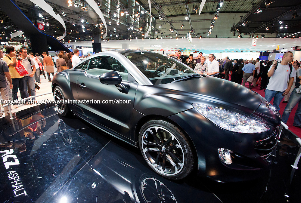Peugeot RCZ on display at Paris Motor Show 2010