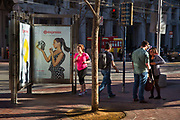 Young afternoon commuters in downtown San Francisco
