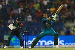 September 26, 2018 - Abu Dhabi, United Arab Emirates - Pakistan cricketer Shoaib Malik plays a shot during the Asia Cup 2018 cricket match  between Bangladesh and Pakistan at the Sheikh Zayed Stadium,Abu Dhabi, United Arab Emirates on September 26, 2018  (Credit Image: © Tharaka Basnayaka/NurPhoto/ZUMA Press)