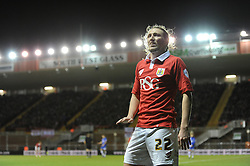 Bristol City's Luke Ayling - Photo mandatory by-line: Dougie Allward/JMP - Mobile: 07966 386802 - 29/01/2015 - SPORT - Football - Bristol - Ashton Gate - Bristol City v Gillingham - Johnstone Paint Trophy