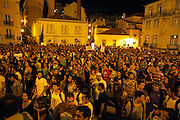 Lisbon strike. Over 150,000 Portuguese marched against planned tax hikes that have shattered the consensus behind austerity imposed by an EU/IMF bailout.