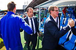 (L-R) coach John van 't Schip of PEC Zwolle, assistant trainer Dwight Lodeweges of PEC Zwolle during the Dutch Eredivisie match between PEC Zwolle and Roda JC at the MAC3Park stadium on August 13, 2017 in Zwolle, The Netherlands