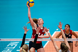 Emily Londot of USA in action during United States - Netherlands, FIVB U20 Women's World Championship on July 15, 2021 in Rotterdam