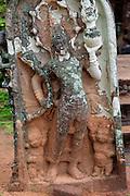 UNESCO World Heritage Site, ancient city Polonnaruwa, Sri Lanka, Asia, stone carving figures, Lankatilaka building, Alahana Pirivena complex