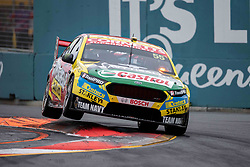 October 21, 2018 - Gold Coast, QLD, U.S. - GOLD COAST, QLD - OCTOBER 21: Chaz Mostert / James Moffat in the Supercheap Auto Racing Ford Falcon (55)during the race at The 2018 Vodafone Supercar Gold Coast 600 in Queensland, Australia. (Photo by Speed Media/Icon Sportswire) (Credit Image: © Speed Media/Icon SMI via ZUMA Press)