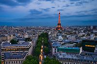 Avenue d'Iéna & Tour Eiffel