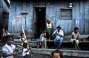 In the village of Palma Real, bordering Colombia,  poor residents live a life subsisting on fishing and mussling in the local river. All the resident are unusually black, Ecuador.