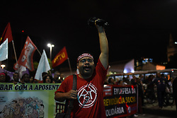 March 22, 2019 - Rio De Janeiro, RIO DE JANEIRO, BRAZIL - March 22, 2019..- Rio De Janeiro, , RIO DE JANEIRO, BRAZIL, Protest against reform of social security, protesters made a protest that began in the Church of Candelaria, and finaliozu in central Brazil, the center of the city.....March 22, 2019.. Rio De Janeiro, : Fabio Teixeira / ZUMA Wire) (Credit Image: © Fabio Teixeira/ZUMA Wire)