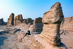 Jiaohe ruined city in Turpan, Xinjiang, China