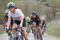 Tiffany Cromwell (CANYON//SRAM Racing) at Strade Bianche - Elite Women. A 127 km road race on March 4th 2017, starting and finishing in Siena, Italy. (Photo by Sean Robinson/Velofocus)