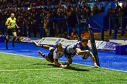 Lloyd Williams of Cardiff Blues scores his sides first try - Mandatory by-line: Craig Thomas/JMP - 04/11/2017 - RUGBY - BT Sport Cardiff Arms Park - Cardiff, Wales - Cardiff Blues v Zebre Rugby Club - Guinness Pro 14