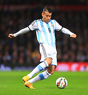 Nicolas Otamendi of Argentina - Argentina vs. Portugal - International Friendly - Old Trafford - Manchester - 18/11/2014 Pic Philip Oldham/Sportimage
