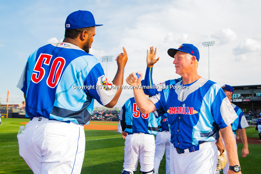 Amarillo Sod Poodles pitching coach Jimmy Jones before the game against the Frisco RoughRiders on Saturday, Aug. 3, 2019, at HODGETOWN in Amarillo, Texas. [Photo by John Moore/Amarillo Sod Poodles]