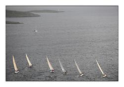 The Brewin Dolphin Scottish Series, Tarbert Loch Fyne...Class two head upwind towards Skate Lighthouse..