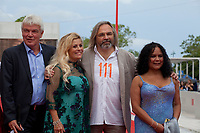 Heino Deckert, Sigrid Dyekjaer, Director Victor Kossakovsky and Aimara Reques at the premiere gala screening of the film Aquarela at the 75th Venice Film Festival, Sala Grande on Saturday 1st September 2018, Venice Lido, Italy.