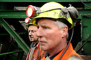 Tony Berg, 58, (left) and Heddwyn Williams, 52, two of the miners working to restore Unity Mine are portrayed during their shift on the surface of Unity Mine, on Friday, Apr. 13, 2007, in Cwmgwrach, Vale of Neath, South Wales. The time is ripe again for an unexpected revival of the coal industry in the Vale of Neath due to the increasing prize and diminishing reserves of oil and gas, the uncertainties of renewable energy sources, and the technological advancement in producing energy from coal while limiting emissions of pollutants, has created the basis for valuable investment opportunities and a possible alternative to the latest energy crisis. Unity Mine, in particular, has started a pioneering effort to revive the coal industry in the area, reopening after more than 8 years with the intent of exploiting the large resources still buried underground. Coal could be then answer to both, access to cheaper and paradoxically greener energy and a better and safer choice than nuclear energy as a major supply for the decades to come. It is estimated that coal reserves in Wales amount to over 250 million tonnes, or the equivalent of at least 50 years of energy supply, while the worldwide total coal could last for over 200 years as a viable resource compared to only a few decades of oil and natural gas.