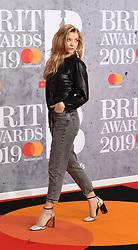 February 21, 2019 - London, London, United Kingdom - Image licensed to i-Images Picture Agency. 20/02/2019. London, United Kingdom. Natalie Dormer arrives at the Brit Awards in London. (Credit Image: © i-Images via ZUMA Press)