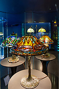 Tiffany stained glass lamps in the collecion of the New York Historical Society.
