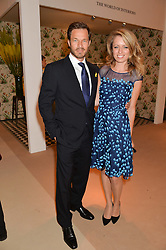 PAUL SCULFOR and FEDERICA AMATI at the Masterpiece Marie Curie Party supported by Jeager-LeCoultre held at the South Grounds of The Royal Hospital Chelsea, London on 30th June 2014.