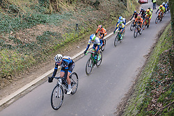 The narrow roads really stretch the peloton as the final lap approaches - 2016 Omloop van het Hageland - Tielt-Winge, a 129km road race starting and finishing in Tielt-Winge, on February 28, 2016 in Vlaams-Brabant, Belgium.