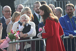 February 27, 2019 - Belfast, United Kingdom - Image licensed to i-Images Picture Agency. 27/02/2019. Belfast , United Kingdom. The Duke and Duchess of Cambridge arriving at  the Irish Football Association at  Windsor Park in Belfast, Northern Ireland. (Credit Image: © Stephen Lock/i-Images via ZUMA Press)