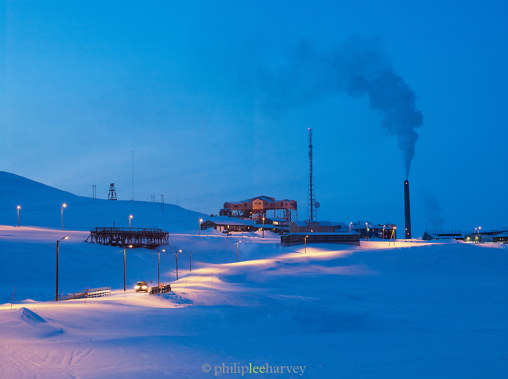 A working mine and power station on the outskirts of Longyearbyen. This is the largest settlement on the Svalbard archipelago in the Arctic Circle, Norway