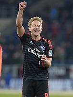 Fotball<br /> Tyskland<br /> 23.10.2015<br /> Foto: Witters/Digitalsport<br /> NORWAY ONLY<br /> <br /> Schlussjubel Lewis Holtby (HSV)<br /> Fussball Bundesliga, TSG 1899 Hoffenheim - Hamburger SV