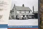 Old photo of The World's End pub, Tilbury, Thurrock, Essex, England, UK