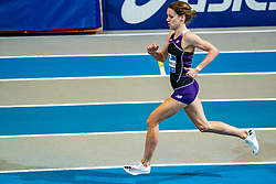 Britt Ummels in action on the 800 meter during AA Drink Dutch Athletics Championship Indoor on 20 February 2021 in Apeldoorn.