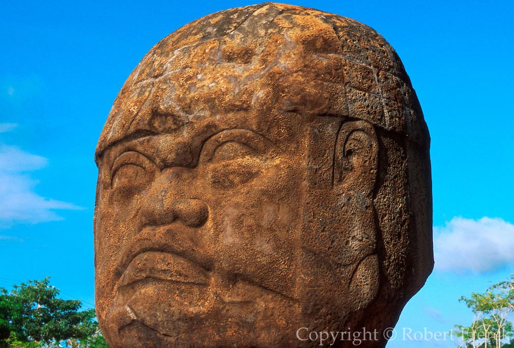 MEXICO, OLMEC, TABASCO La Venta; Giant Olmec Head